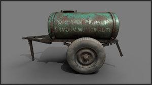 rusted water tanker 3D model