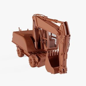 excavator digger industrial 3D