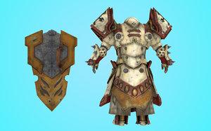 3D alien creature character