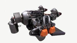 aircraft engine rotax 912 3D model