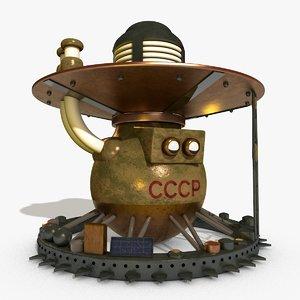 venera 9 landing spacecraft 3D model
