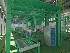3D model industrial production workshop