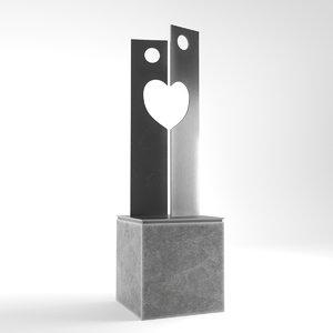 3D modern decorative abstract metal