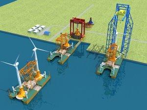 3D offshore wind power model