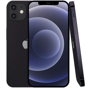 apple iphone 12 black 3D model