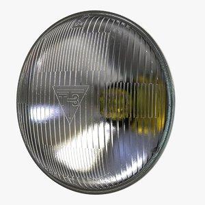sealed beam headlight 3D