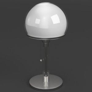 wagenfeld table lamp 3d model
