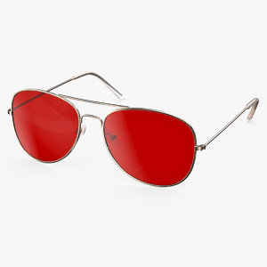 3D aviator sunglasses