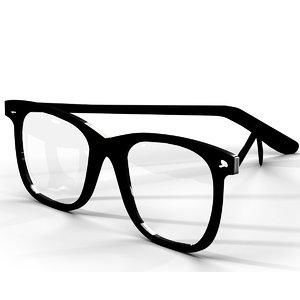 glasses eyeglass optic 3D model