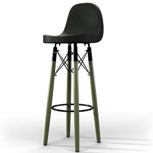 3D stool leather bar
