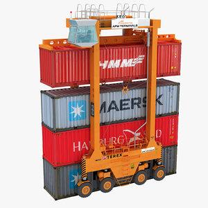 straddle carrier 3D model