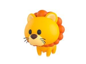 3D model lion character
