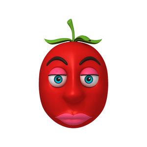3D tomato cartoon model