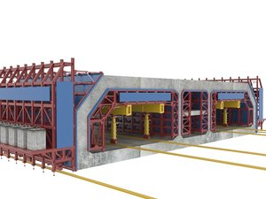 tunnel support 3D model