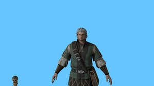 viking warrior character model