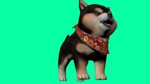 shiba dog 3D model