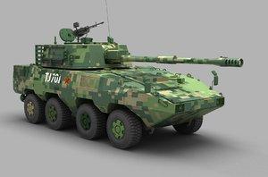 3D model pla ztl11 wheeled assault