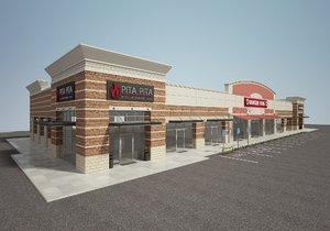 retail store build 3D