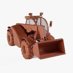 farming backhoe 3D model