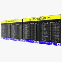 Airport Timetable Arrivals and Departures Board