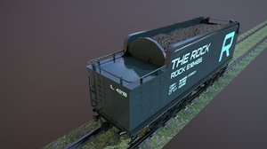 train hopper car engines 3D model