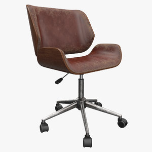 realistic office chair 3D model