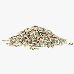 10 dollar bill stack model