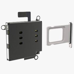 3D sim card tray internal