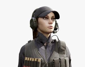 3D army girl