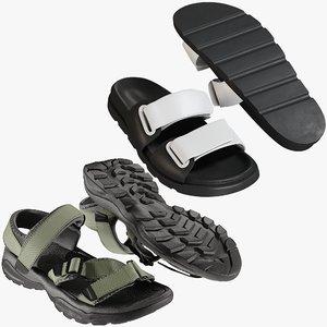 3D model realistic shoes 28 flops