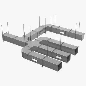 3D model ventilation shaft square set