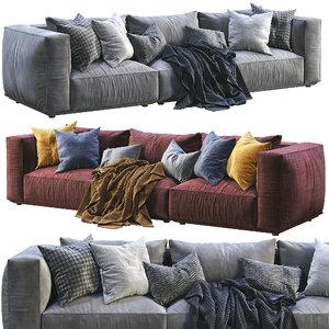 3D marechiaro sofa arflex model