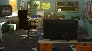 dorm room 3D model