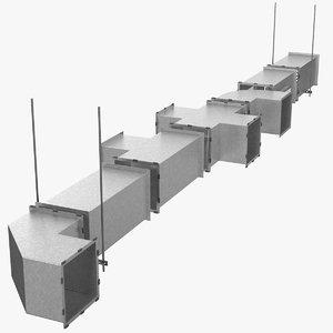 ventilation shaft square components 3D model