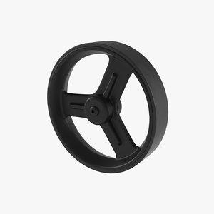 3D trolley wheel tire model