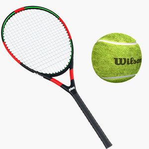 3D tennis racket ball model