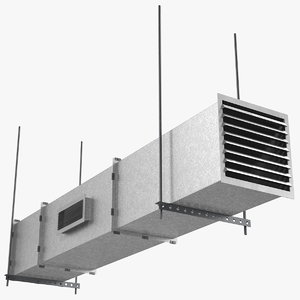 aluminium square air duct 3D model