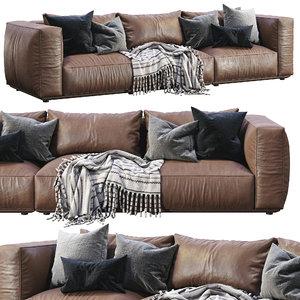marechiaro leather sofa arflex 3D model