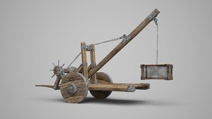 ancient weapon catapult 3D model