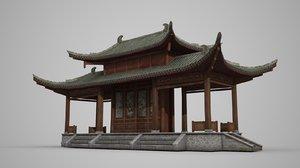 ancient architecture pavilion 3D