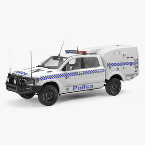 3D model police paddy wagon dodge ram