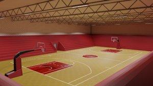 3D stadium baskets model