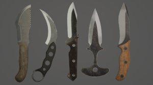 5 knife 3D model