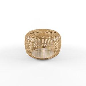bangor bamboo coffee table 3D model