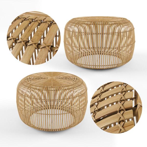 3d Model Bangor Round Bamboo Coffee Table Turbosquid 1646495
