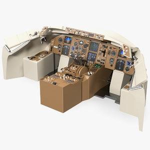 3D airplane dashboard air