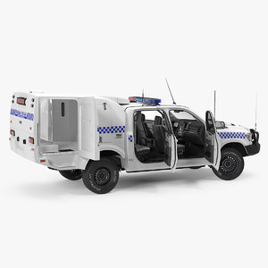3D police paddy wagon dodge ram model
