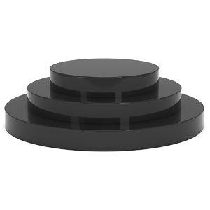 stage black podium award 3D model