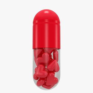 pill heart 3D