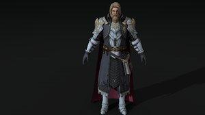 warrior man rigged 3D